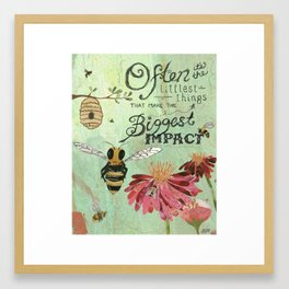 Honeybees May Be Little Framed Art Print