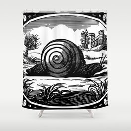 Divine emblems, or Temporal things spiritualized 1867 Shower Curtain