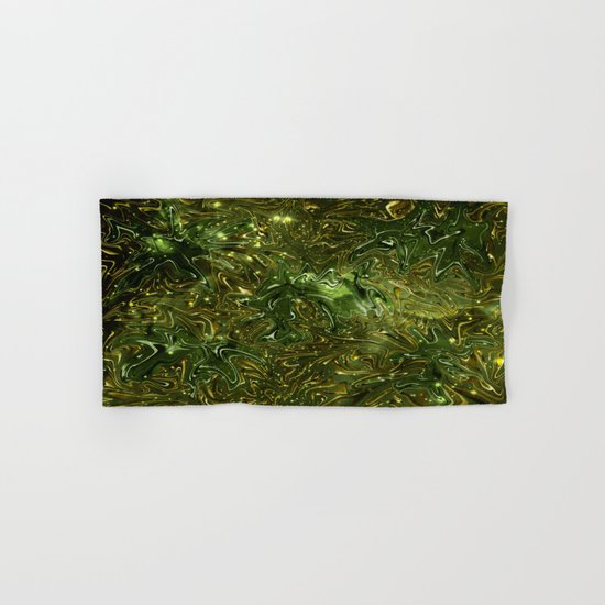 The Wolves Hidden in the Jade Green Galaxy Hand & Bath Towel