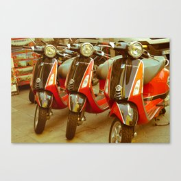 Scooters in Madrid Canvas Print