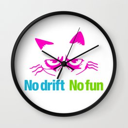 No drift No fun v4 HQvector Wall Clock