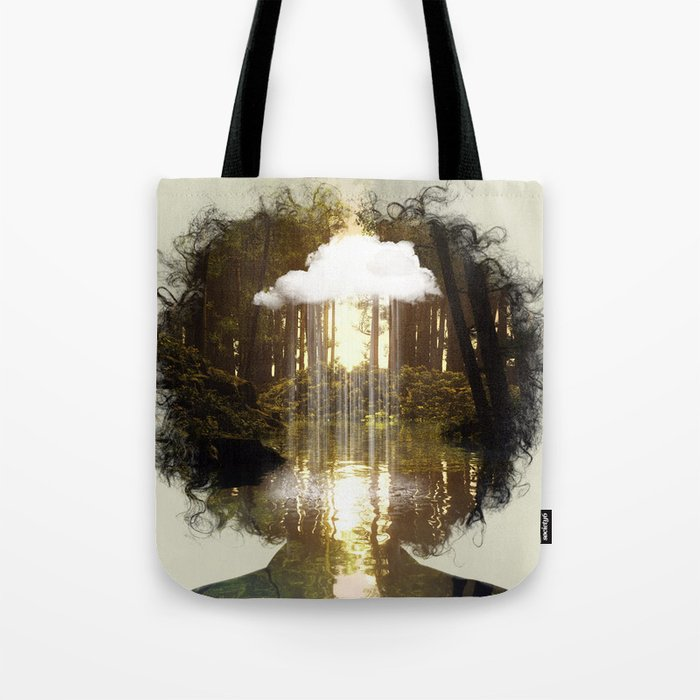 Brain Rain Tote Bag