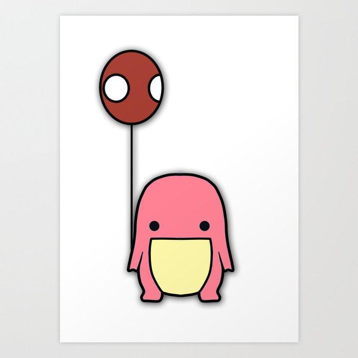 Balloon Quaggan Pink Case Art Print