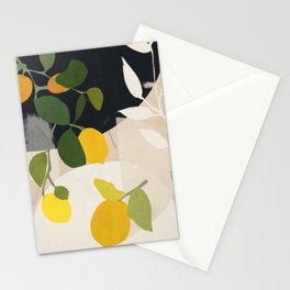 Lemon Abstract Art Stationery Cards