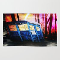 dr who Area & Throw Rugs featuring dr who by shannon's art space