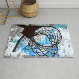 Basketball art print Rug