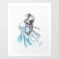 frozen elsa Art Prints featuring Frozen Elsa by Jeanette Perlie