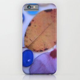 AUTUMN PETALS & GLASS iPhone Case
