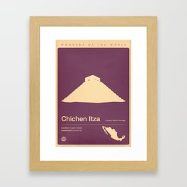 Chichen Itza, Mexico Framed Art Print