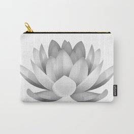 black and white lotus Carry-All Pouch