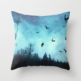 And the sun went down behind the clouds Throw Pillow