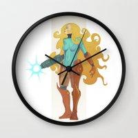 samus Wall Clocks featuring Samus by Tim Kaminski