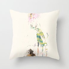 Are we human? Throw Pillow