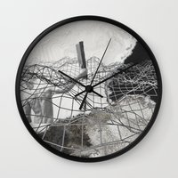 square Wall Clocks featuring square by MAGIC DUST