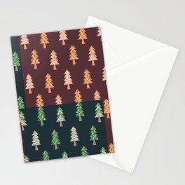 Xmas Tree Asymmetric Pattern Stationery Cards