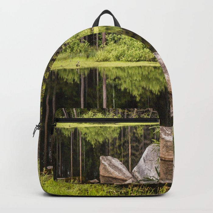 Quiet Forest lake Backpack
