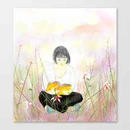 The reading girl Canvas Print