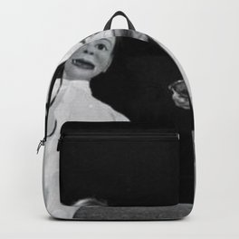 Creepy Ventriloquist Dummies that look like they might want to kill you black and white photography Backpack