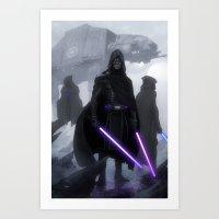 jedi Art Prints featuring Jedi Hunters by Yvan Quinet
