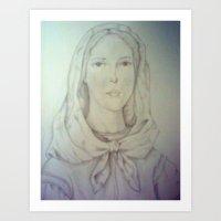St. Dymphna Art Print