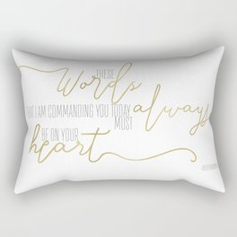 Deuteronomy 6:6 - Goldie Rectangular Pillow