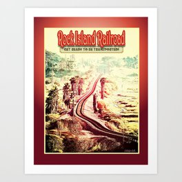 Rock Island Railroad Poster Art Print