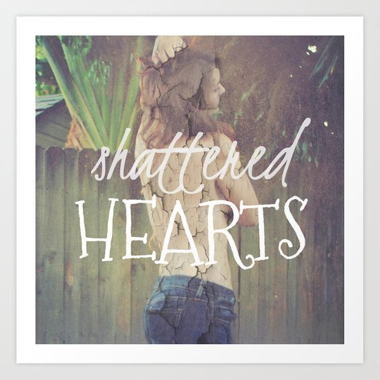 Shattered Hearts Club Art Print