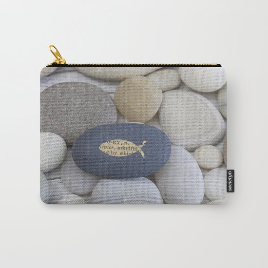 Mindful fish symbol on pebble Carry-All Pouch