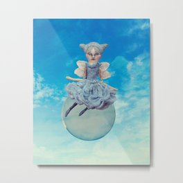 Fairy floating on a Bubble Metal Print