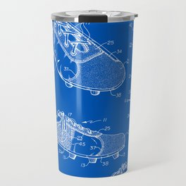 Soccer Cleat Patent - Blueprint Travel Mug