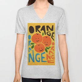 Orange A Tang Unisex V-Neck