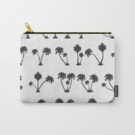 solar palm beach in a dark color Carry-All Pouch