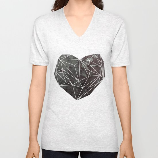 Heart Graphic 4 Unisex V-Neck