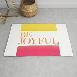 Be Joyful Always Rug