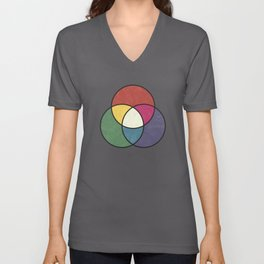 Matthew Luckiesh: The Additive Method of Mixing Colors (1921), vintage re-make Unisex V-Neck