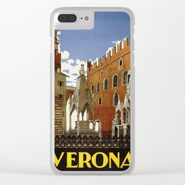 Vintage poster - Verona Clear iPhone Case