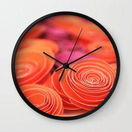orange Wall Clock
