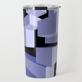 3D Blue Travel Mug