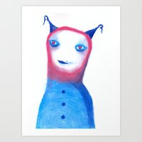 et Art Prints featuring ET? by Saif Chowdhury