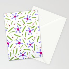 Leaves and flowers pattern (25) Stationery Cards