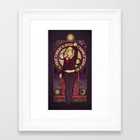 bad wolf Framed Art Prints featuring Bad Wolf by Megan Lara