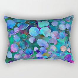 Colored Wood Pile 3 Rectangular Pillow