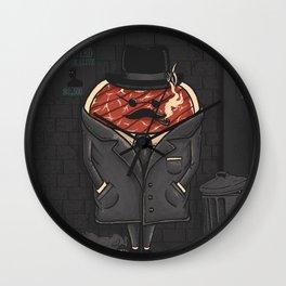 Steak out Wall Clock