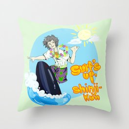 Surf's up, Shinji-kun! Throw Pillow