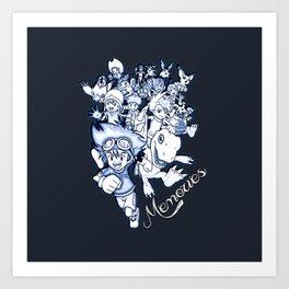Digimon Memories Art Print