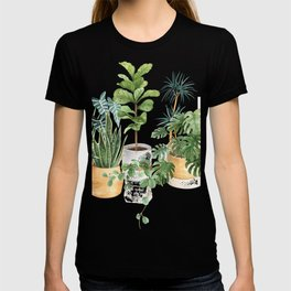 Watercolor house plants potted plants T-shirt