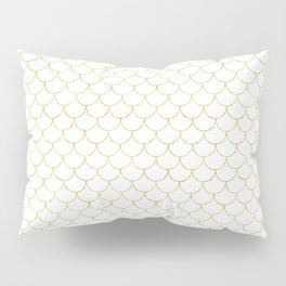 Mermaid Scales in Gold Pillow Sham