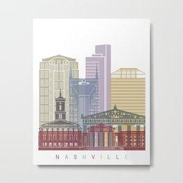 Nashville skyline poster Metal Print