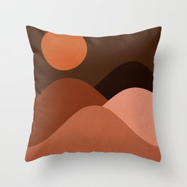 Abstraction_Mountains_SUN_MNIMALISM Throw Pillow