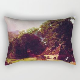 The Old Mill 1855 By Albert Bierstadt | Reproduction Painting Rectangular Pillow